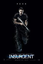 Insurgent movie poster [Theo James as Four] original 27x40 advance