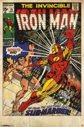 The Invincible Iron Man poster: No. 25 cover with Sub-Mariner (24x36)