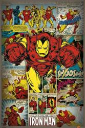 The Invincible Iron Man poster: Marvel Comics panels (24'' X 36'') New