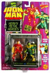 Iron Man [Heavy Metal Heroes] Iron Man vs. Mandarin diecast figures
