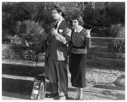 Clark Gable & Claudette Colbert poster (22x18) It Happened One Night