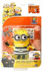 Despicable Me 3: Jail Time Tattoo Phil Deluxe action figure (Thinkway)