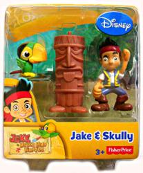 Jake and the Never Land Pirates: Jake & Skully figures (Disney Junior)