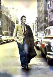 James Dean poster: Walking With Camera (27'' X 38 1/2'') Color