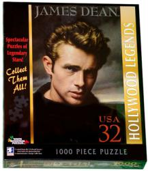 James Dean 1000-piece jigsaw puzzle: Stamp design (White Mountain)