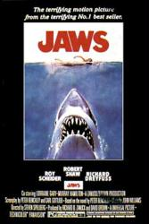 Jaws movie poster (1975 Steven Spielberg film] 24x36