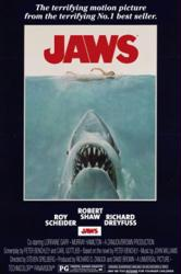 Jaws movie poster (1975) [a Steven Spielberg film] 24x36