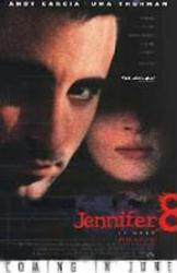 Jennifer 8 movie poster [Andy Garcia, Uma Thurman] 27x40 NM