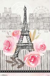 Jessica Flick poster: Paris (22x34) Eiffel Tower art