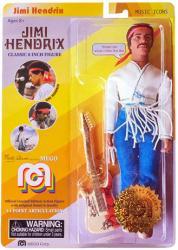 "Jimi Hendrix 8"" retro-style action figure (MEGO/2018) Woodstock"