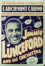 Jimmie Lunceford concert poster [Larchmont Casino/1938] 17'' X 24''