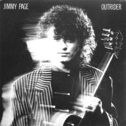 Jimmy Page poster: Outrider vintage LP/Album flat
