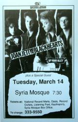Joan Jett & the Blackhearts poster: 11 X 17 1986 concert repro poster