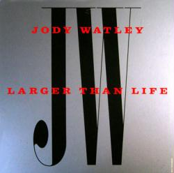 Jody Watley poster: Larger Than Life vintage LP/Album flat