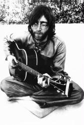 John Lennon poster: Sitting with Guitar (24'' x 36'') New