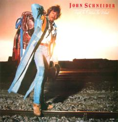 John Schneider poster: Tryin' To Outrun the Wind vintage LP/album flat