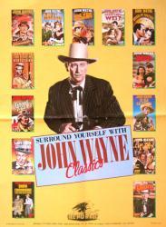John Wayne poster (18x24) Republic Classic movies collection 1986