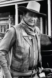 John Wayne poster: B&W Cowboy (24x36) New