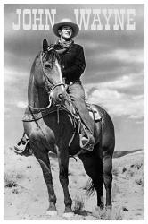 John Wayne poster: The Duke on Horse (24 X 36) New
