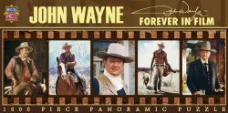 John Wayne jigsaw puzzle: Forever In Film (1000 pc Panoramic puzzle)