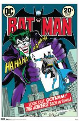 Batman poster: Joker's Back In Town comic book cover (22 1/4'' X 34'')