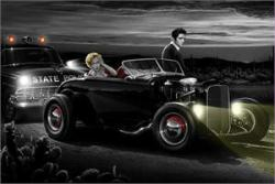 Joy Ride poster [Marilyn Monroe, Elvis Presley] by Helen Flint (36x24)