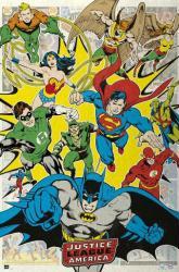 Justice League of America poster: Attack (24x36) Retro