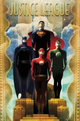 Justice League poster: Art Deco style (24x36) DC Comics