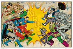 Justice League poster: Heroes vs. Villains (36x24) Retro