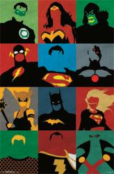 Justice League poster: Minimalist art (22x34) DC Comics
