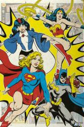 Justice League poster: The Ladies (24x36) Retro