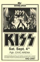 KISS poster: 11'' X 17'' 1976 Civic Arena concert handbill-style