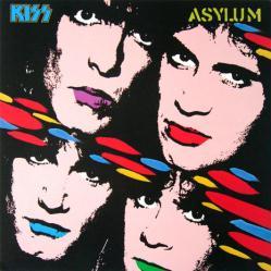 KISS poster: Asylum vintage LP/Album flat (1985)