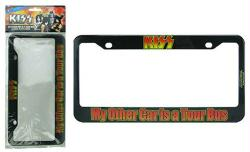 KISS: My Other Car is a Tour Bus license plate frame (Bif Bang Pow!)