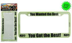 KISS: You Wanted the Best license plate frame (Bif Bang Pow!/2016)