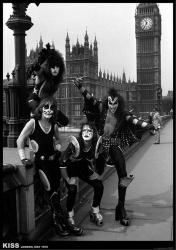 "KISS poster: London, May 1976 (23 1/2"" X 33"") Big Ben"