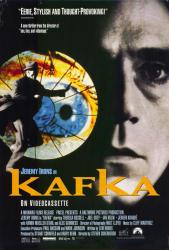 Kafka movie poster [Jeremy Irons] 1991 Steven Soderbergh film (27x40)