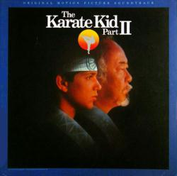 The Karate Kid Part II soundtrack poster: Vintage LP/Album flat (1986)