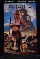Knights movie poster [Kris Kristofferson] an Albert Pyun film