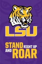 Louisiana State University Tigers logo poster [LSU] (NCAA] 22x34