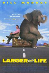 Larger Than Life movie poster [Bill Murray] video poster