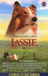 Lassie movie poster (1994 video poster) 27x40
