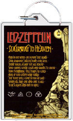 "Led Zeppelin keychain: Stairway to Heaven (1 1/2"" X 2 1/4"")"