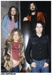 "Led Zeppelin poster: Group Shot, 1972 (23 1/2"" X 33"")"