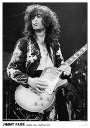 Led Zeppelin poster: Jimmy Page, London, May 1975 (23 1/2'' X 33'')