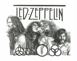 Led Zeppelin poster/print (22 1/2'' X 17 1/2'') Mike Duran art