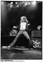 Led Zeppelin poster: Robert Plant, London, May 1975 (23 1/2'' X 33'')