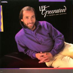 Lee Greenwood poster: If There's Any Justice vintage LP/album flat