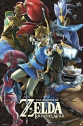 Legend of Zelda: Breath of the Wild video game poster (24x36) Nintendo