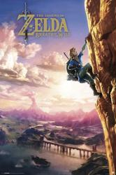Legend of Zelda Breath of the Wild poster: Climbing (24x36) Nintendo